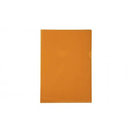 EXACOMPTA Boîte de 100 pochettes coin en PVC 13/100 ème. Coloris orange.