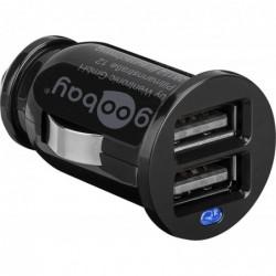 GOOBAY Chargeur Allume Cigare Dual USB 2.1A Noir