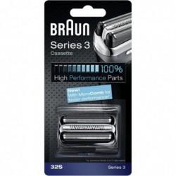 BRAUN Piece De Rechange compatible avec les rasoirs Series 3- BRAUN 32S Argentée