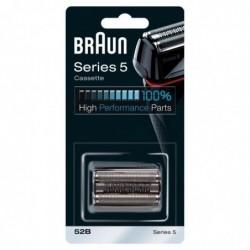 BRAUN Piece De Rechange compatible avec les rasoirs Series 5- BRAUN 52B Noire