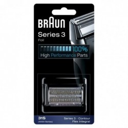 BRAUN Piece De Rechange compatible avec les rasoirs Series 3- BRAUN 31S Argentée