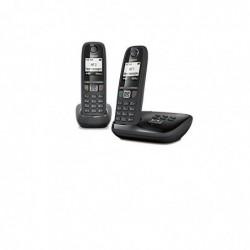 GIGASET Téléphone Répondeur Duo DECT Gigaset As470 Noir