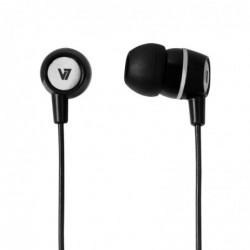 V7 Ecouteurs stéréo microphone intégré pour Ordinateur /iPhone/Lecteur MP3 Noir