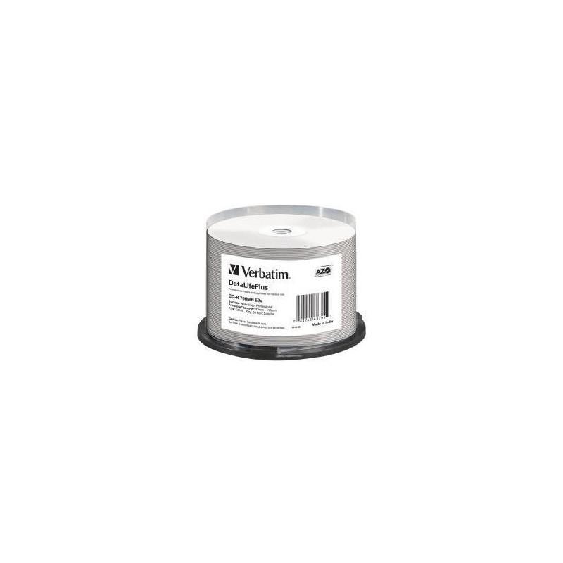 VERBATIM Spindle 50 CD-R Imprimable 52x Jet d'encre