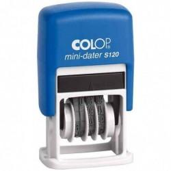 COLOP Timbre Mini Dateur S120 SD 4 x 23 mm Mois en chiffre
