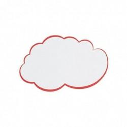 FRANKEN Pqt de 20 fiches nuage pour présentation, 420 x 250 mm, blanc