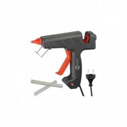 FIXPOINT Pistolet à colle pour bâtons de colle 11/12 mm 200 W Noir