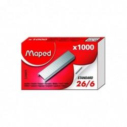 MAPED Boite de 1000 agrafes 26/6, zinguées
