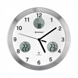 BRESSER MyTime io horloge Murale 30cm avec température et Humidité Blanc