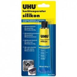 UHU Tube 80 ml Silicone haute température Noir