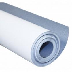 CLAIREFONTAINE Rouleau de papier à peindre 1 face blanche, 1 face bleue 120g 50x1m