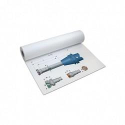 PAPYRUS Rouleau Papier Traceur Jet d'encre L 61 cm x 50 m 90g Blanc