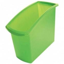 HAN Corbeille à papier MONDO 18 litres Rectangle Vert translucide