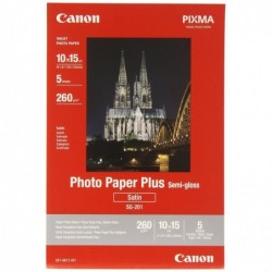CANON Etui de 5 Papier Photo SG-201 Semi-gloss 10x15cm 260g