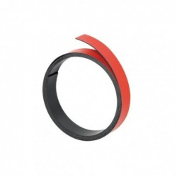 FRANKEN Ruban magnétique Découpable 100 x 2 cm Rouge