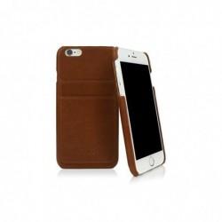 CASEUAL Coque cuir iPhone 6s, Italian marron