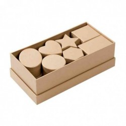 FOLIA boîte en carton 15 pièces à Décorer Nature