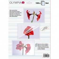 OLYMPIA Kit Démarrage 100 Pochettes de Plastification 80 mic A4/A5/A6 et CV