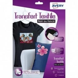 AVERY Boîte de 4 feuilles transferts pour tee-shirt noir ou foncé