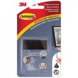 COMMAND Kit de 4 x 2 Languettes de fixation Taille: M Capacité 5,4 Kg Total Noir