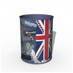 QUO VADIS POT A CRAYONS METAL Union Jack 08x08x10,5 cm