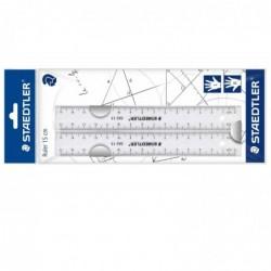STAEDTLER Règle Plate Plastique Droitier Gaucher Transparent 30 cm