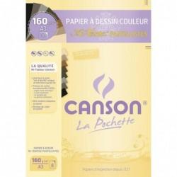 """CANSON Pochette de 8 feuilles Papier à dessin """"Mi-Teintes"""" A3 160g Couleur Pastel"""