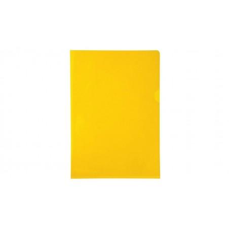 EXACOMPTA Boîte de 100 pochettes coin en PVC 14/100 ème. Coloris jaune