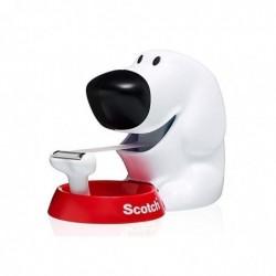 SCOTCH Dévidoir forme chien avec rouleau adhésif Magic 19mmx7,5m