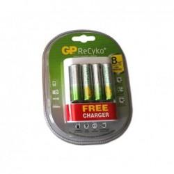 Chargeur USB GP ReCyko + 4 piles rechargables AA (2000mAh)