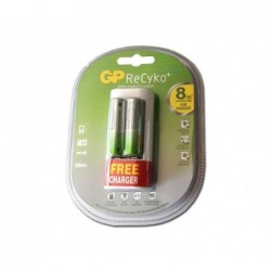 Chargeur USB GP ReCyko + 2 piles rechargeables AA (2000mAh)