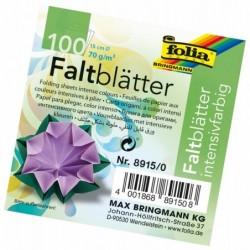 FOLIA Lot de 100 Papier Origami Diam 150 mm 70 g Assortis