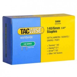 TACWISE Agrafes 140/6 mm, galvanisé, 5.000 pièces