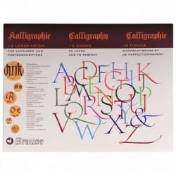BRAUSE CALLIGRAPHIE coffret de 10 Feuilles d'apprentissage de la calligraphie