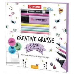 STABILO livre de cartes postales à dessiner - salutations