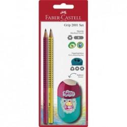 FABER-CASTELL Kit crayon GRIP 2001 Set vogue, blister