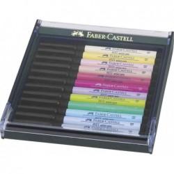FABER-CASTELL Feutre PITT artist pen, étui de 12