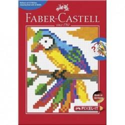 """FABER-CASTELL Livre de coloriage """"Pixel-it"""" avec 32 motifs"""