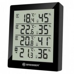 BRESSER Thermomètre Digital Temeo Hygro Quadro noir
