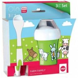 EMSA Set de vaisselle pour enfants FARM FAMILY, 3 pièces