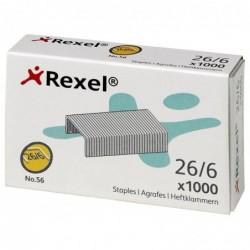 REXEL Lot de 1000 No 56 26/6 agrafes