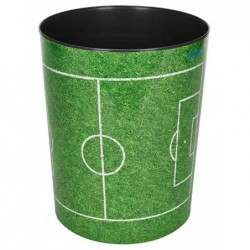 LÄUFER Corbeille à papier PP H 30 cm 13 Litres Terrain de football