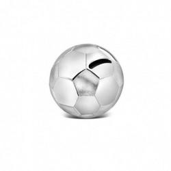 ZILVERSTAD Tirelire Ballon de Football Argenté Laqué