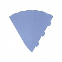 HEYDA Cornets surprise découpés, 6 cotés, 69 cm, bleu clair