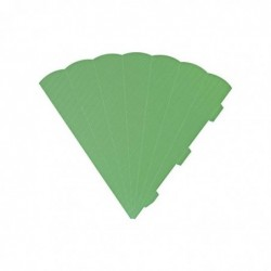 HEYDA Cornets surprise découpés, 6 cotés, 69 cm, vert