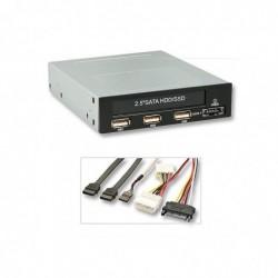 """LINDY Module interne 3,5"""" pour disque dur 2,5"""", 3x USB 2.0 et 1x eSATAp 5 & 12 V"""