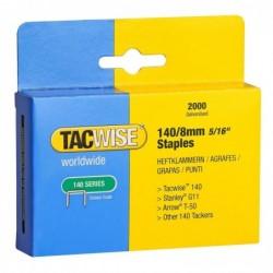TACWISE Boîte de 2000 Agrafes galvanisées 140/8 mm Type 140