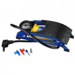 GOODYEAR Pompe à pied avec manomètre 1 cylindre Bleu/jaune