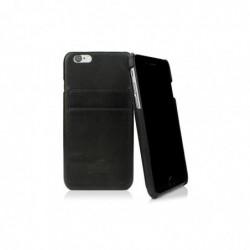 CASEUAL Coque cuir iPhone 6s, Italian noir