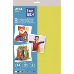 APLI Pochette 18 feuilles A4 de Dressy Bond couleurs assorties